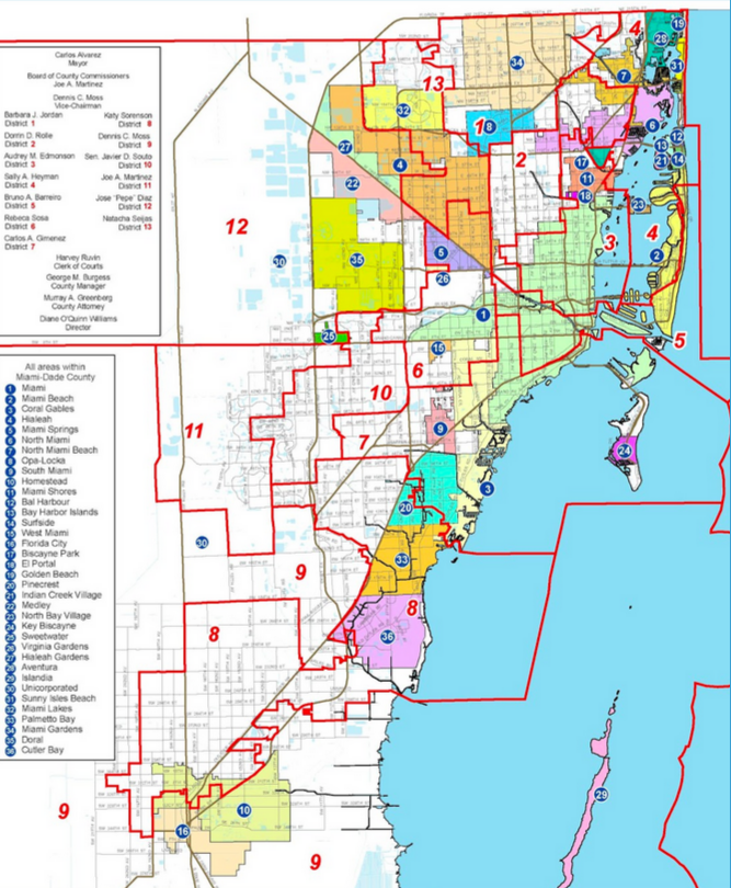 miami dade county zip code map - maping resources